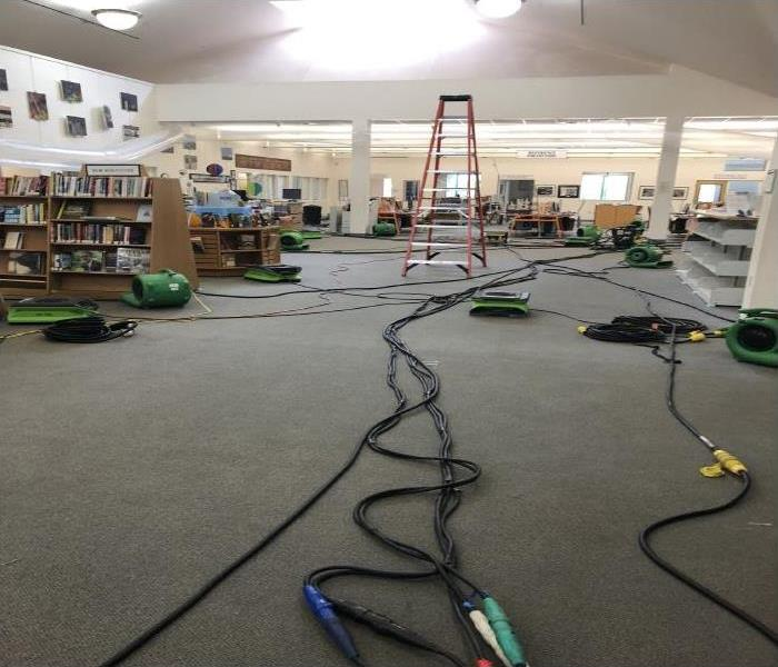 Commercial Water Damage Recovery At The Cocoa Beach Library