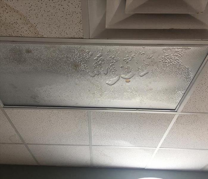 Water damage at a women's center in Titusville