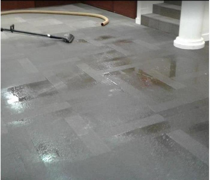 standing water on carpeted floor