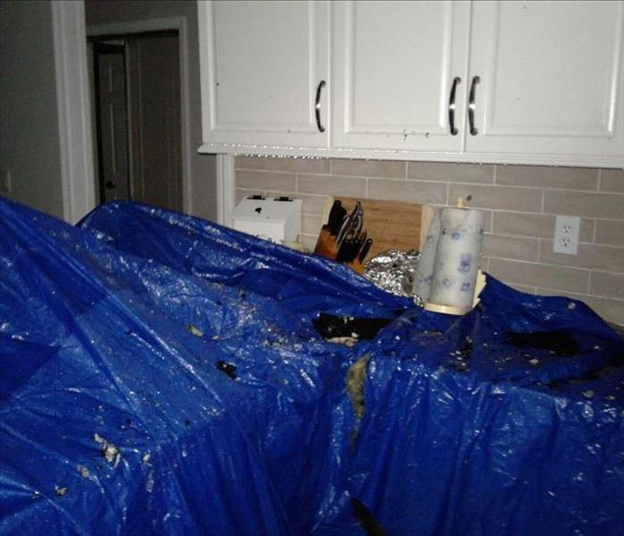 Water Damage water damage comes from fire in Melbourne Florida